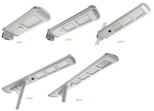 IP65 18V60WImported High Efficiency  All In One Led Solar Street Lights With Solar Mono Panel