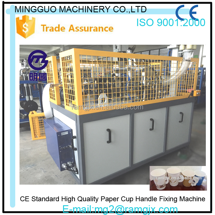 Mingguo Paper Cup only Handle Foming Machine , Machine Make Cup Paper with Handle
