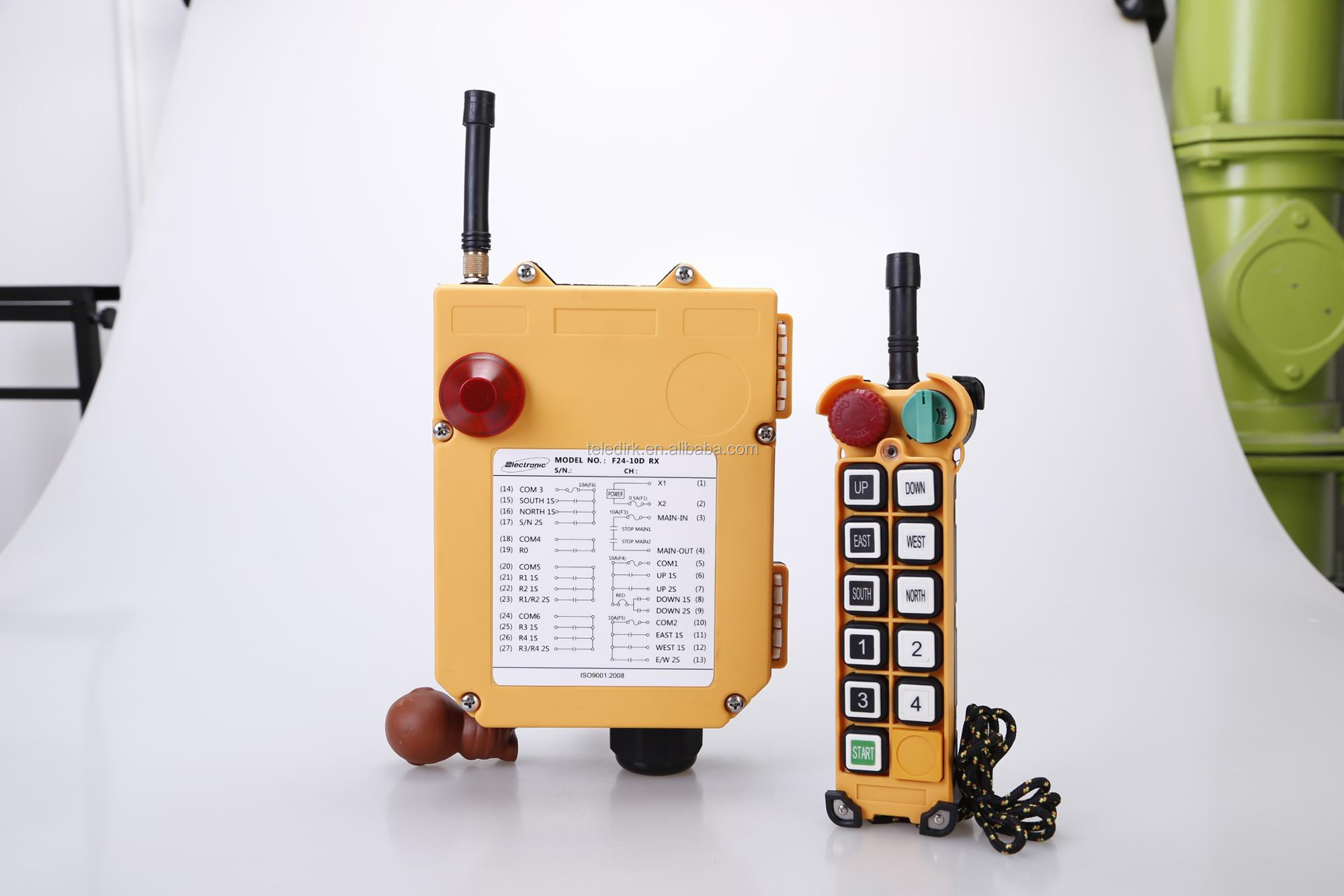 Henan Dirk electronic F24-10D 380V Industrial Wireless Crane push buttons Remote Controls For winch