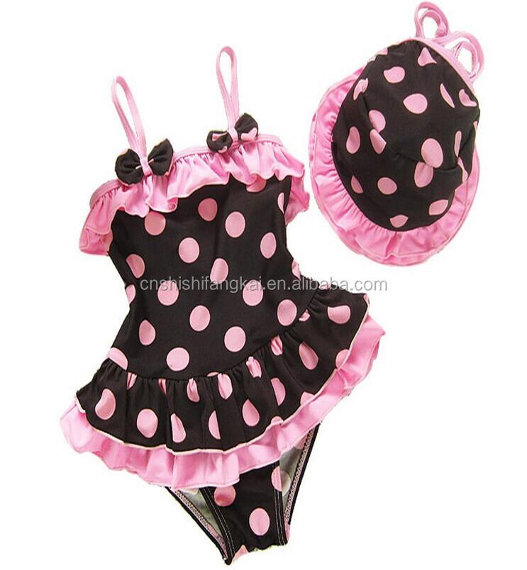 55d4fc913a Children Swimwear Baby Kids Cute Bikini Girls split Two Pieces Swimsuit  Bathing Suit Beachwear kids newest