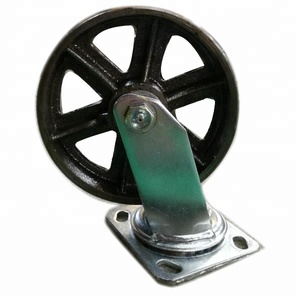 "Heavy duty RIGID SWIVEL 6"" CAST IRON CASTER WHEEL"
