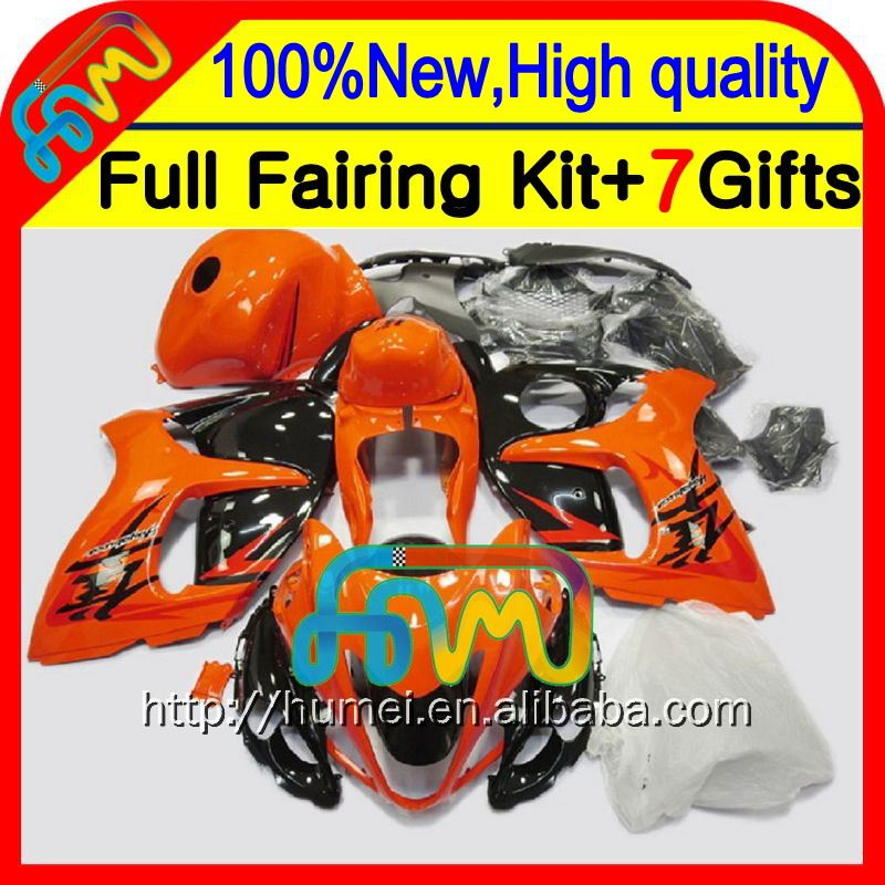 Orange black 8Gifts For SUZUKI Hayabusa GSXR1300 2008 2009 2010 2011 19LQ81 GSXR 1300 08 09 10 11 GSX R1300 12 13 14 15 Fairing