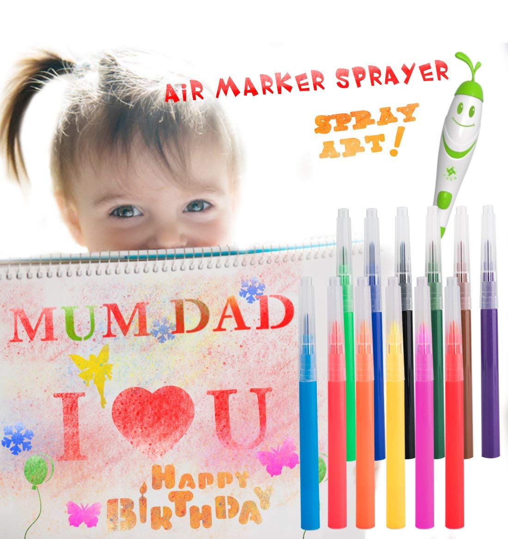 Water Color Pens For Kids, 12pcs Watercolor Brush Pens Drawing Paintbrush Art Coloring Marker Set Colored Brush Pen Drawing Pen Colored Artist Drawing Marker Pens Perfect for Adults and Kids Coloring
