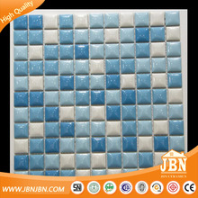 Wholesale hot sale blue glossy swimming pool ceramic USA mosaic tile (C525018)