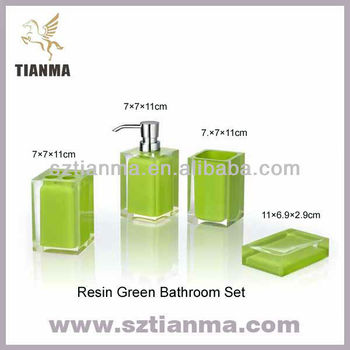 Lime green bathroom accessories buy lime green bathroom for Bathroom decor lime green