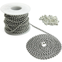 DGXS Silver Ball Chain 100 meters Per Spool Bulk, Stainless Steel Silver Ball Chain