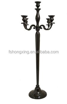 Hot Elegant Black Table Candelabra Whole Wedding Standing Candelabras