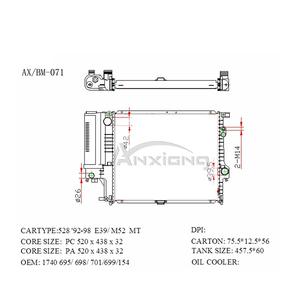 Bmw 528i Radiator, Bmw 528i Radiator Suppliers and