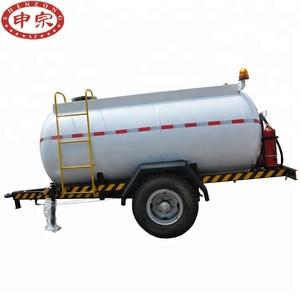 Pickup truck 3000L mobile single alxe diesel fuel tanker trailer for sale