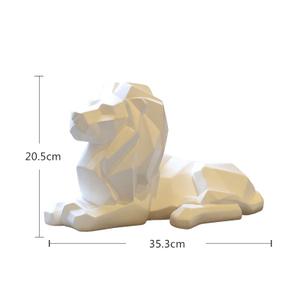 Geometric lion decorative figurine,poly resin Forest King statues