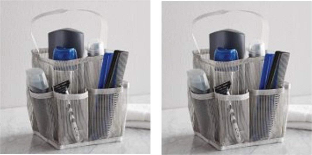 Shower Curtain PocketsSundlight PEVA Bath Organizer With 9 Large Compartments Pockets Hanging