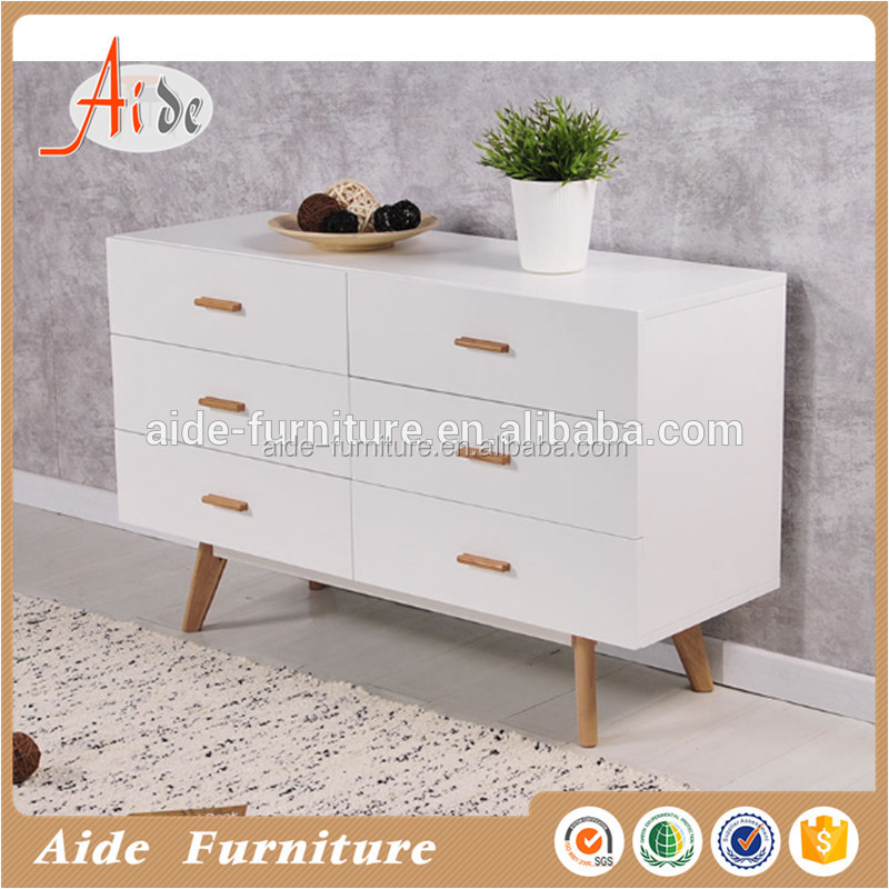 Modern design white wooden chest of drawers for sale