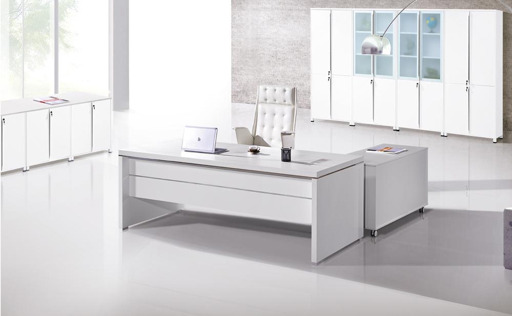 Cf 2014 oficina blanco director escritorio escritorio for Escritorio moderno blanco