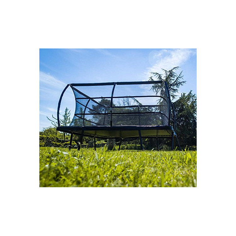 10FT*17FT bungee jumping large rectangular trampoline square with safety nets