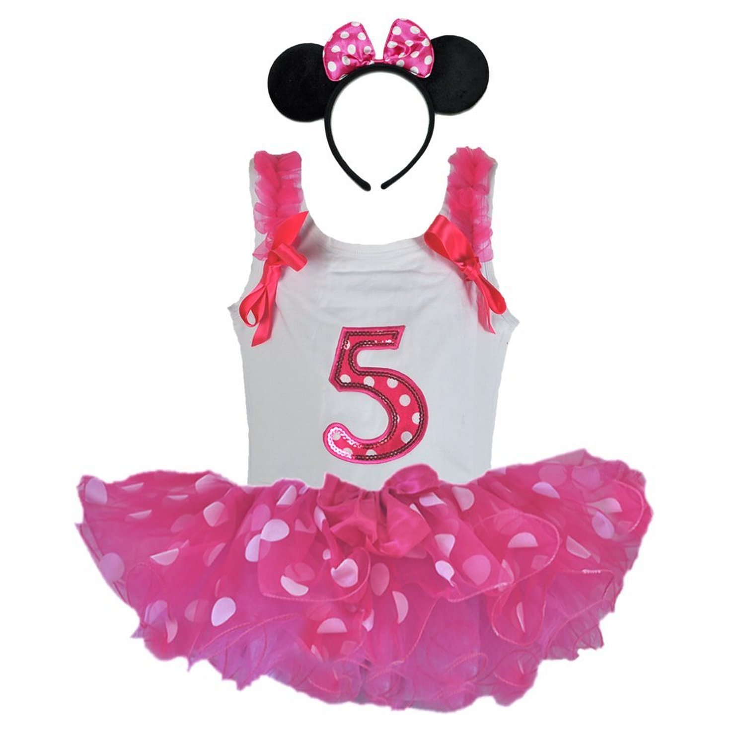 Cheap Pink Tutu Outfit Find Deals On Line At Dress Baby Flower 0 2th Get Quotations Birthday Girl Age Number Tank Top Hot Wht Polka Dot Headband