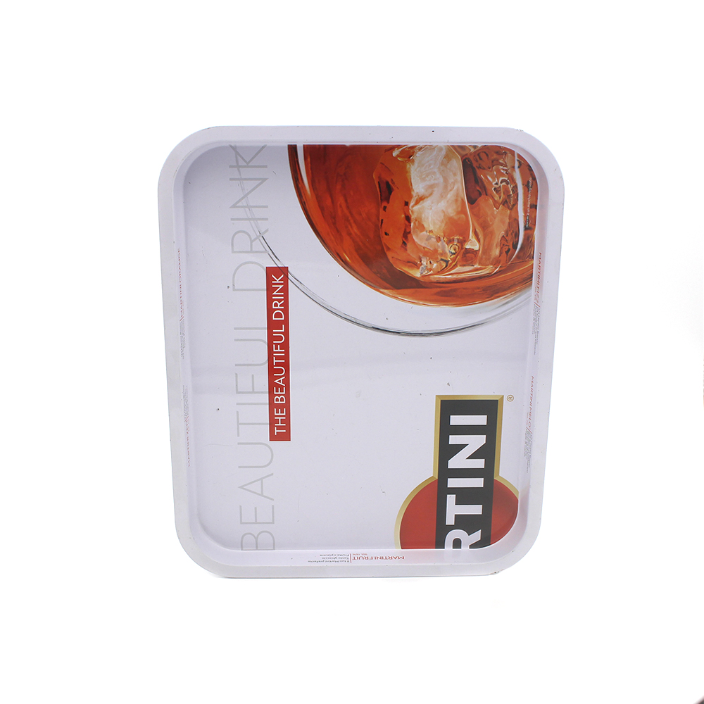 High Quality Custom Printed Non-Slip Metal Serving Tray