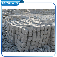 Natural granite cobble stone for exterior paving usage