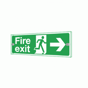 Custom Design Wall Door Signage Polishing Acrylic Fire Exit Sign for Public Place