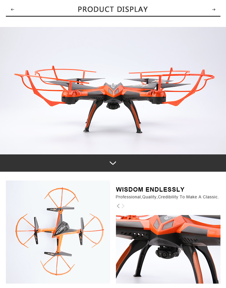 A10  Headless mode selfie 2.4G 4ch rc drone quadcopter wifi with hd camera con