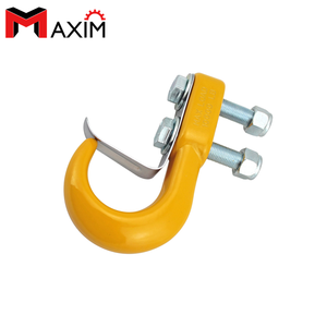 Yellow Color Painted 1000OLbs Bolt On Tow Hook With Keeper