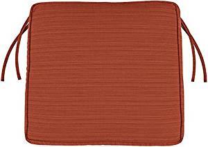 "Box edge Trapezoid Outdoor Chair Cushion, 3""Hx18.5""Wx17""D, PAPAYA SUNBRELLA"
