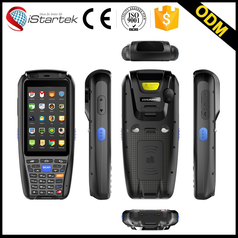 Large Screen IP65 portable fingerprint scanner Handheld PDA With WIFI GPRS RFID 1D/2D