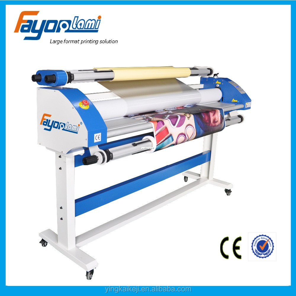 Fayon lami cold roll laminator 1600mm,64 inches real paper glue laminator after printing work