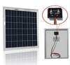 solar panel 12v 15w with volt regulator,cable,clips