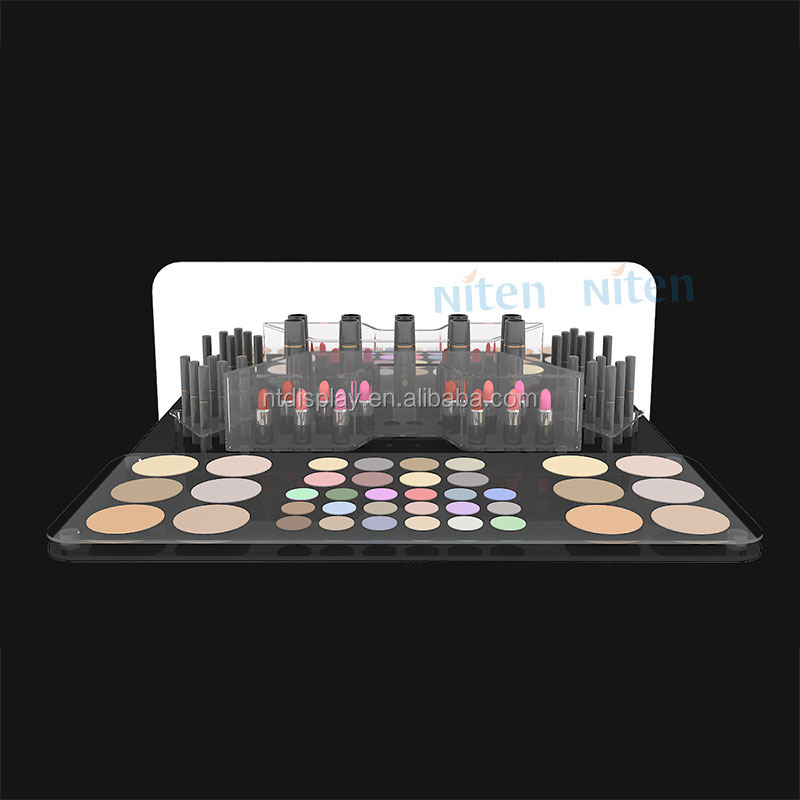 Retail acrylic cosmetic display stand mac makeup organizer