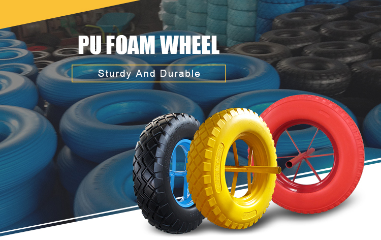 China solid wheels pu wheel 16x4.00-8 400-8
