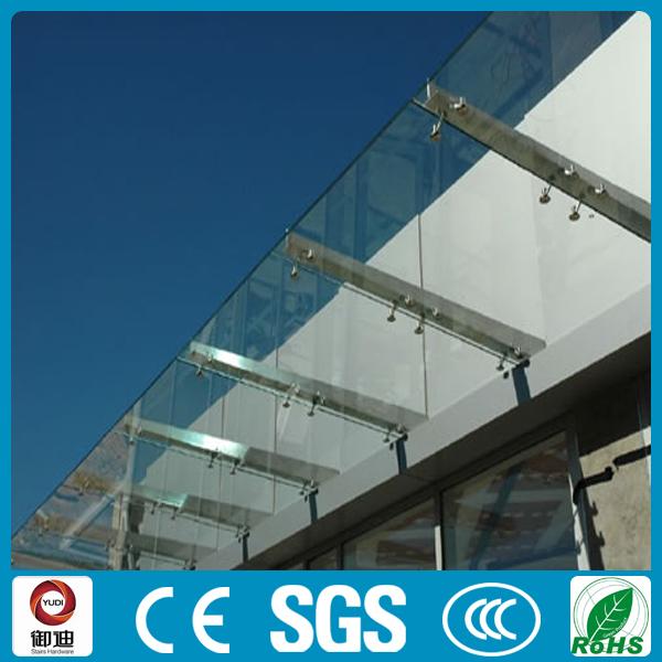 modern design stainless steel front door glass canopy - buy front