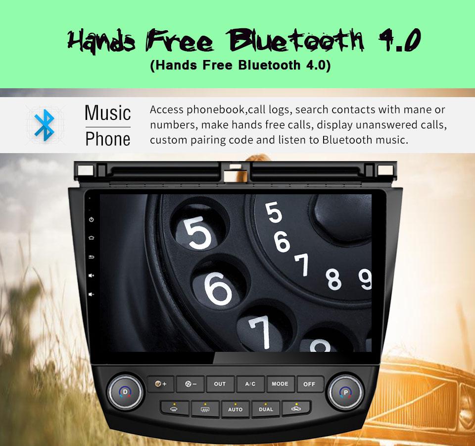 8 Core Android 6.0&7.1 Car Audio Dab Radio Code For Honda Accord 7th