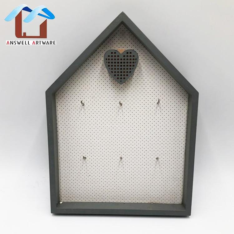 Cute Home Decoration Necklaces Jewelry Organizer Wall Hanging  Key Organizer Wood Box