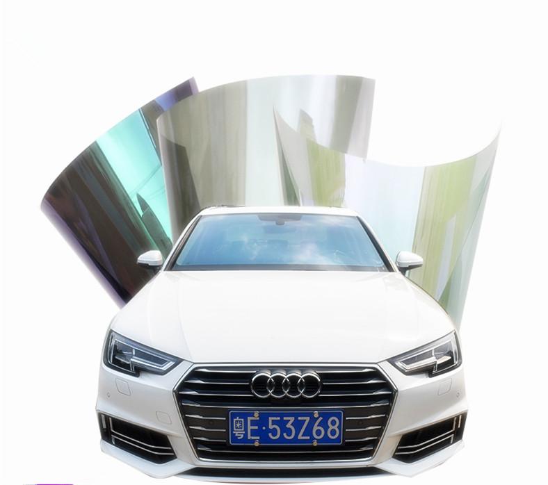 3 เมตรยูวีปิดกั้นรถ photochromic หน้าต่างสะท้อนแสงฟิล์มความร้อนพรุน