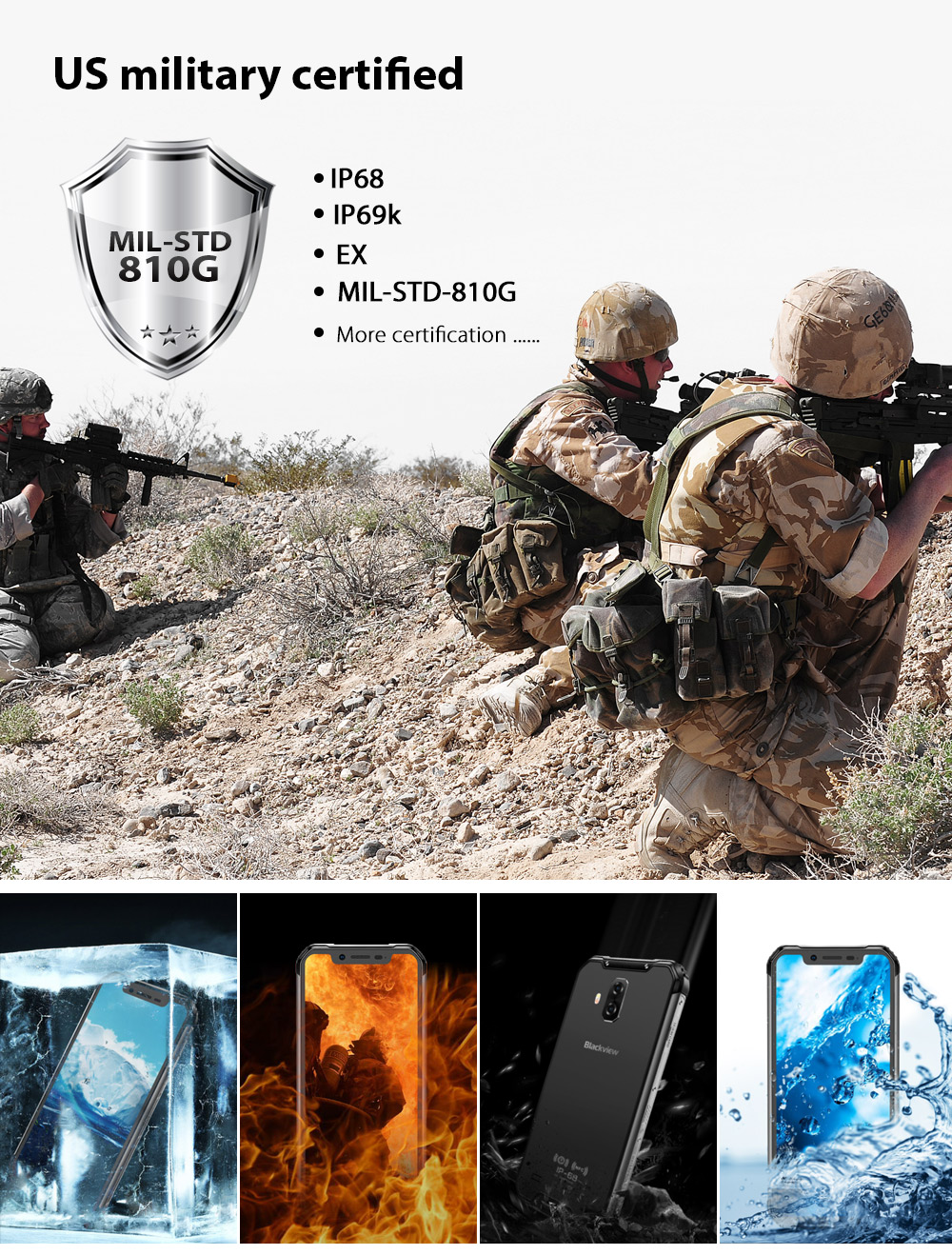 "Global 4g mobile phone Blackview BV9600 pro Rugged IP68 Waterproof Helio P60 6.21""inch Smartphone 6GB RAM 128GB MT6771 5580mAh"