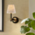 American study wall lamp bronze living room bedside lamp warm creative bedroom simple Nordic wall lamp room mirror headlamp hall
