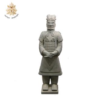 Superbe Famous Garden Soldier Bronze Terracotta Chinese Warrior Statue NTBS 795Y