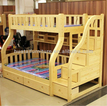 Kids bedroom set furniture solid wood bunk bed mother - Solid wood youth bedroom furniture ...