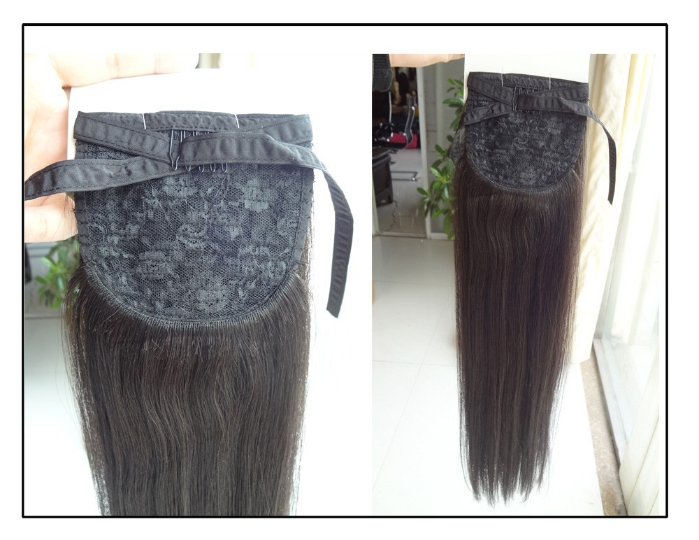 Wrap Around Human Hair Drawstring Ponytail,Remy Human Hair Clip On Ponytail,Cheap Clip In Full Head Clip In Remy Hair Extensions