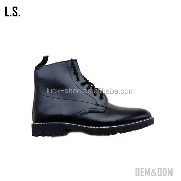military lace-up round toe half boots cool cheap trade unisex martin shoes