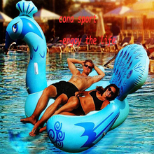 2017 Hot Sale Pool Party Tube Giant Raft Lounge Toy for Adults & Kids Inflatable Peacock Swimming Pool Floats Ride-on