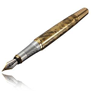 Jinhao250 Frosted Black And Golden M Nib Fountain Pen.