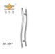 S shape glass door handle/sliding glass shower door handles/stainless steel handle