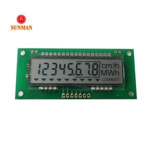 China low price hot oem custom 3v to 5v 7 pin serial 8 digit 7segment  reflective lcd display