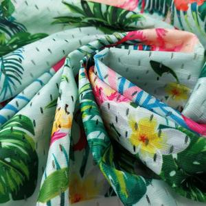 95 cotton 5 elastane bedding printed silk floral dress fabric