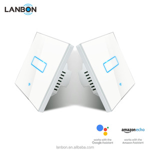 Lanbon 1 Gang 2 Way LANBON Wireless Wifi Lighting Switch Mutual Control For Smart Home Automation System