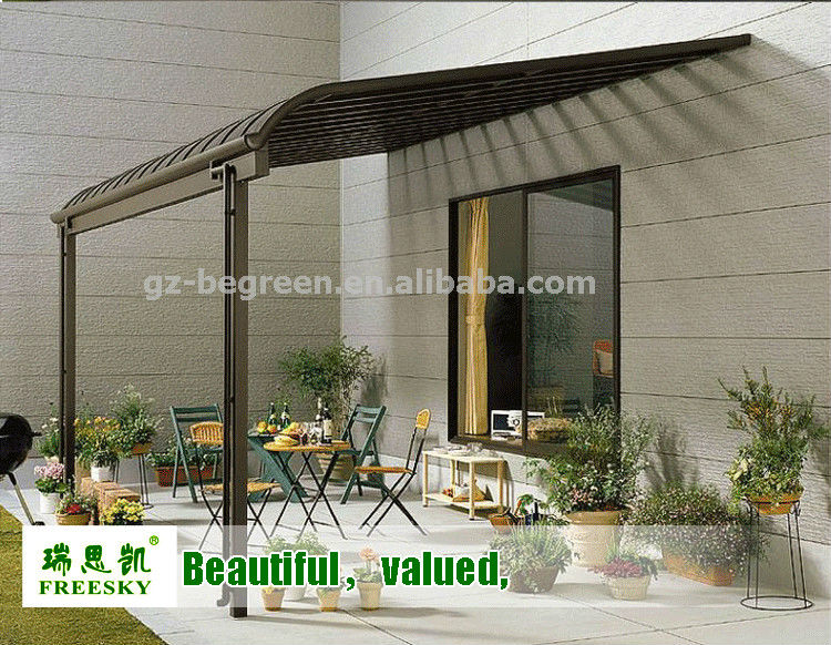 Outdoor Aluminum Garden Gazebo Pergola ,Prefabricated Patio Cover,Beach Sun  Shelter Tent