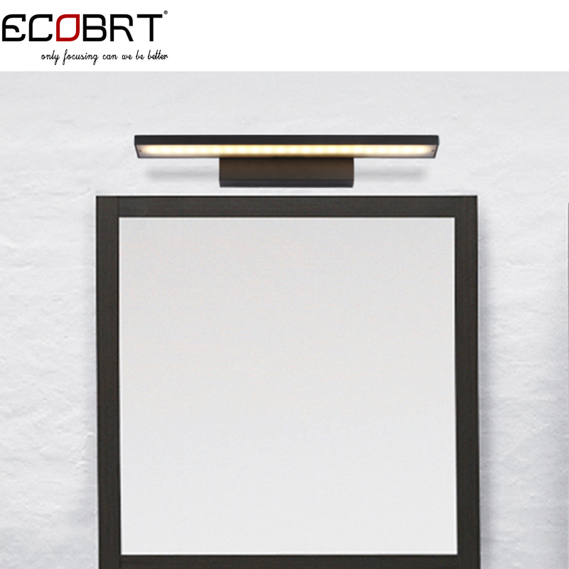 8W Modern Aluminum LED Wall Lights 40CM 85-265V Home Decor Restroom Bathroom Bedroom white / Black Wall Lamp Hotel Lights