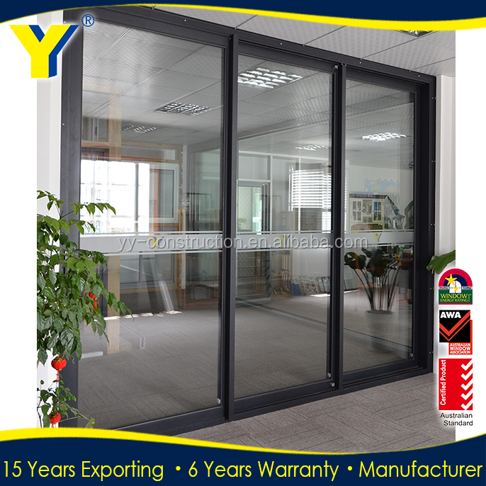 Amazing Au Standard Aluminumcommercial Glass Entry Door/used Commercial Glass  Sliding Doors With AS2047/NZS2208