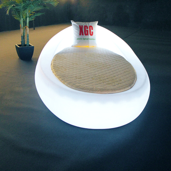 Hotel outdoor Bed Sheets Supplier LED Lighting Bedding sun egg bed